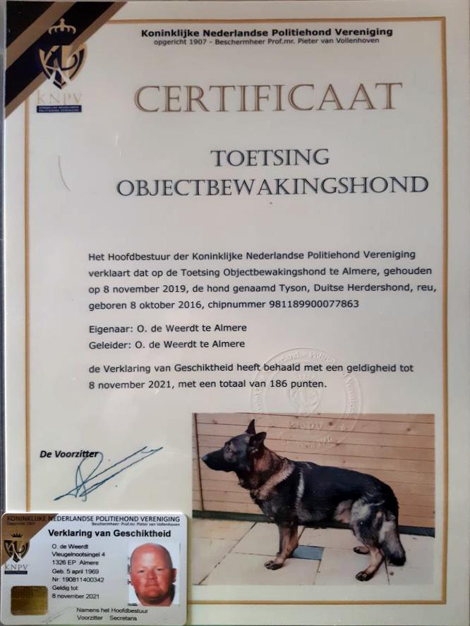 certificaat_koninklijke-nederlandse_politiehondvereniging
